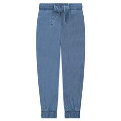 Junior - Pantalon en Tencel avec liens à nouer devant