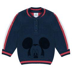 Trui van dubbele tricot met print van ©Disney Mickey van velours