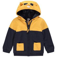 Veste à capuche en tricot doublée sherpa , Orchestra
