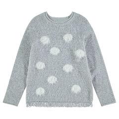 Junior - Trui van tricot met contrasterende stippen