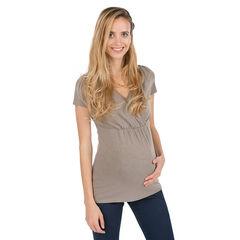 Tee-shirt manches courtes de grossesse et d'allaitement