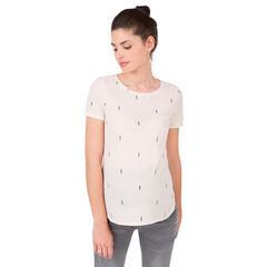 Tee-shirt manches courtes de grossesse uni