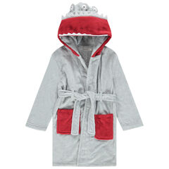 Robe de chambre monstre à capuche en sherpa