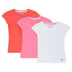 Junior - Lot de 3 tee-shirts manches courtes en jersey unis