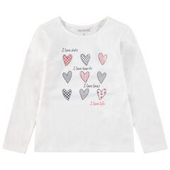 T-shirt met lange mouwen en print met motief aan de voorzijde