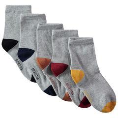 Set met 5 paar sokken met contrasterende neus en hiel , Orchestra
