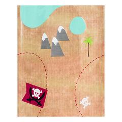 Tafelkleed verjaardag Piraat motief kaart schattenjacht 110 x 180 cm