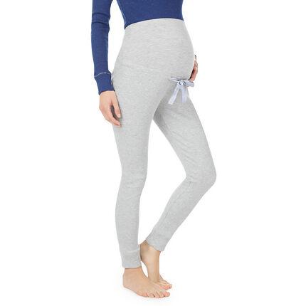 Pantalon de grossesse homewear côtelé bandeau haut