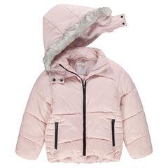 Junior - Doudoune matelassée doublée sherpa avec poches zippées