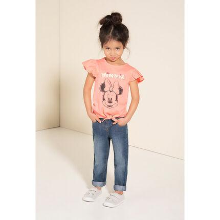 T-shirt met lange mouwen met print met magische lovertjes van Minnie ©Disney