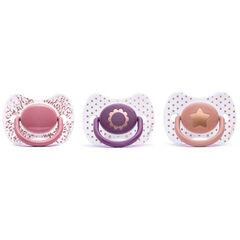 Fopspeen silicone +4m - Roze