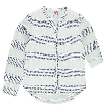 Junior - Lang hemd met fantasiestreepjes