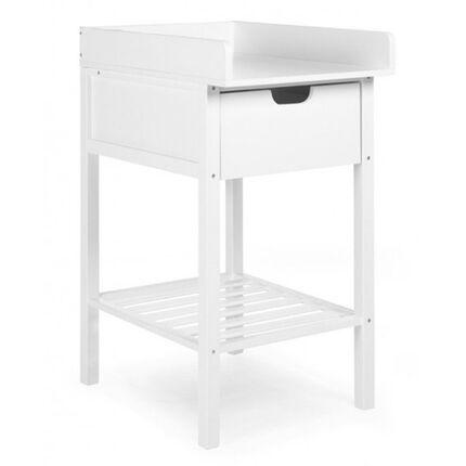 Table à langer avec tiroir + Roues - Blanc