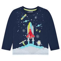 T-shirt met lange mouwen in jerseystof