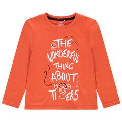 T-shirt manches longues en jersey avec Tigrou printé Disney