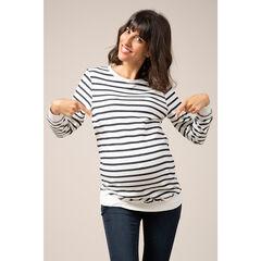 Zwangerschapstrui in marinièrestijl