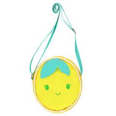 Doorzichtige schoudertas in de vorm van een citroen