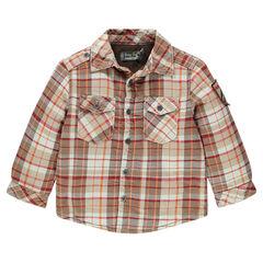 Overhemd lange mouwen in flanel