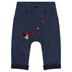 Pantalon en chambray Disney avec broderies Minnie