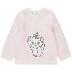 Pull en tricot effet léopard broderie Marie Aristochats Disney , Orchestra