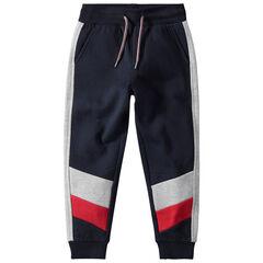 Junior - Pantalon de jogging en molleton avec touches contrastées