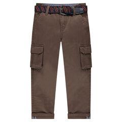 Pantalon droit à poches et ceinture amovible