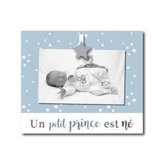 """Cadre à poser """"Un petit prince est né"""" - Bleu"""