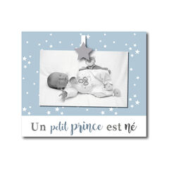 "Kader ""Voor kleine prins werd geboren"" - Blauw en ster"