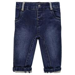 Pantalon en molleton effet jeans curve