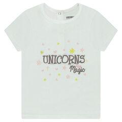 T-shirt met korte mouwen en fantasieprint uit jerseystof