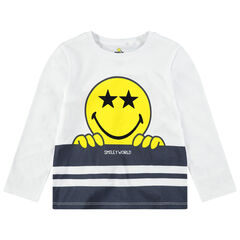 T-shirt met lange mouwen van jerseystof met ©Smiley-print