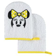 Set met 2 Disney washandjes van badstof met geborduurd Minnie motief