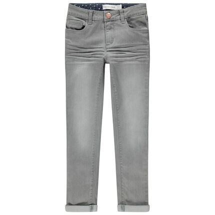 Junior - Jean effet used et crinkle coupe skinny