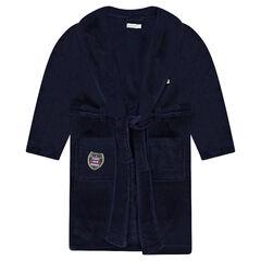 Junior - Kamerjas van sherpastof met opgestikte badges