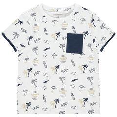 T-shirt manches courtes imprimé palmiers all-over , Orchestra
