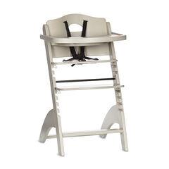 Chaise haute Zeta avec tablette - Gris clair