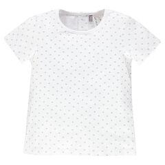 T-shirt korte mouwen met sterren met all-overmodel