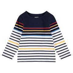 Marinière en jersey à rayures colorées