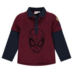 Polo met lange mouwen en 2-in-1 effect van ©Marvel  met Spidermanprint