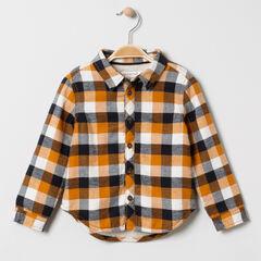 Chemise à carreaux en flanelle en sherpa