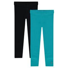 Junior - Set met 2 effen leggings uit jerseystof