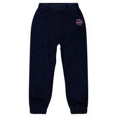 Pantalon en velours doublé micropolaire