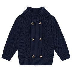 Gilet en tricot avec jeu de mailles et col roulé
