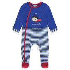 Pyjama van jerseystof met Superman-print - JUSTICE LEAGUE - CHIBI