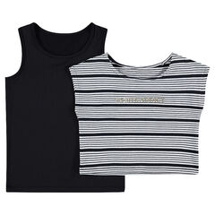 Junior - Tanktop 2-in-1 met afneembare crop top