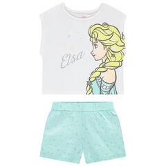 Pyjama en coton bio print Elsa Reine des neiges Disney