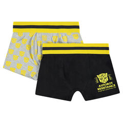 Lot de 2 boxers en coton avec prints ©Transformers