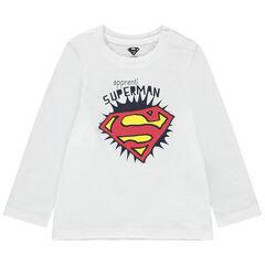 T-shirt manches longues print logo Superman , Orchestra