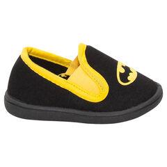 Lage zwarte en gele pantoffels van DC Comics Batman
