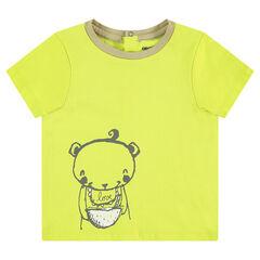 Tee-shirt manches courtes en jersey avec ourson printé
